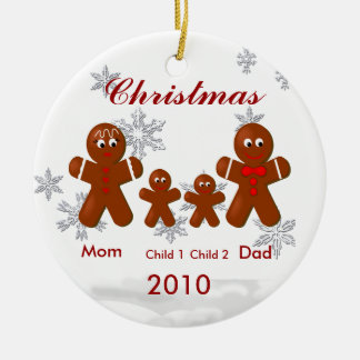 Ornamento del navidad de la familia de cuatro