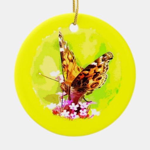 Ornamento del navidad de la mariposa adornos