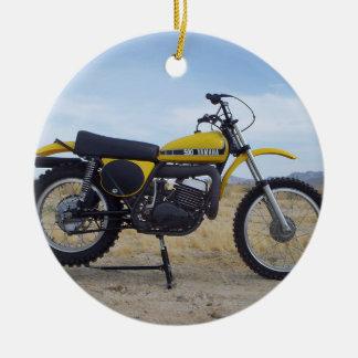 Ornamento del navidad de la motocicleta del
