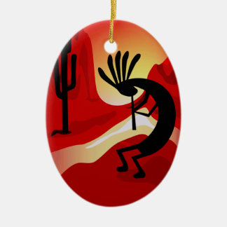 Ornamento del navidad de la puesta del sol del