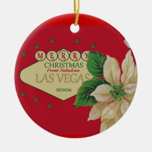 Ornamento del navidad de Las Vegas Ornaments Para Arbol De Navidad