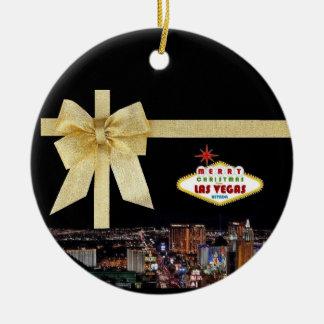 Ornamento del navidad de Las Vegas de la cinta del Ornato