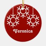Ornamento del navidad de los copos de nieve que ca ornamente de reyes