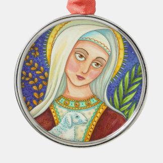 ORNAMENTO del NAVIDAD de Maria y del cordero