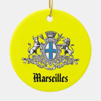 Ornamento del navidad de Marseilles* Francia Adorno Redondo De Cerámica