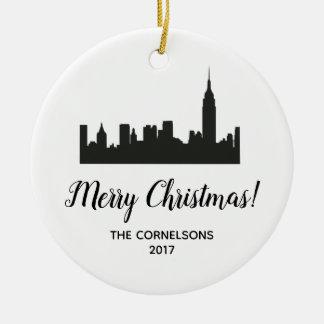 Ornamento del navidad de New York City