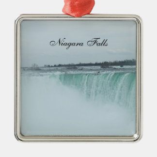 Ornamento del navidad de Niagara Falls Adorno Navideño Cuadrado De Metal