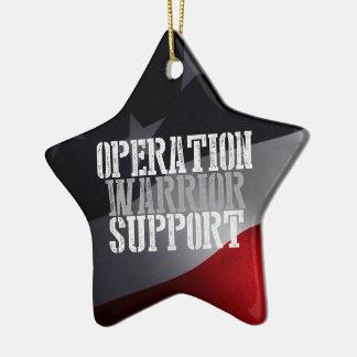 Ornamento del navidad de OWS 2013 Adorno Navideño De Cerámica En Forma De Estrella