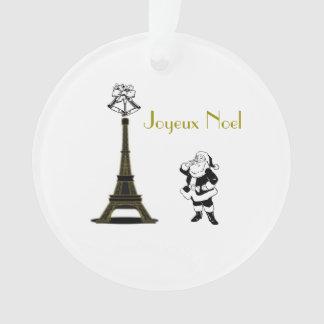 Ornamento del navidad de París de la torre Eiffel