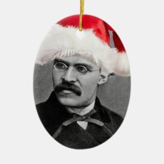 Ornamento del navidad de Santa Nietzsche