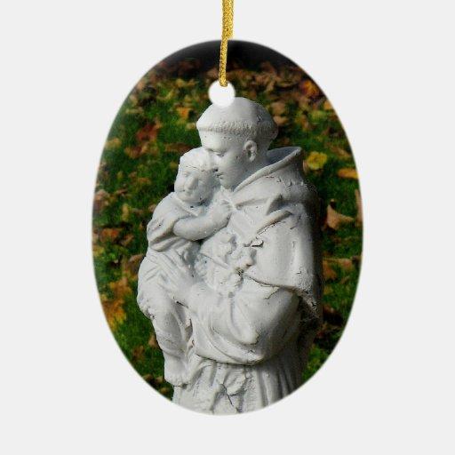 Ornamento del navidad de St Anthony Adorno Para Reyes
