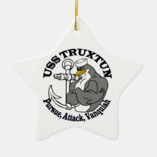 Ornamento del navidad de USS TRUXTUN Ornamento Para Reyes Magos