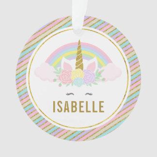 Ornamento del navidad del arco iris y de la foto
