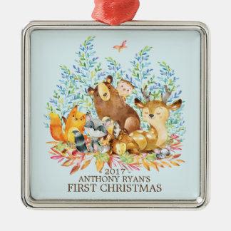 Ornamento del navidad del bebé de los animales del