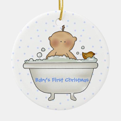 Ornamento del navidad del bebé del tiempo del baño ornamento de reyes magos
