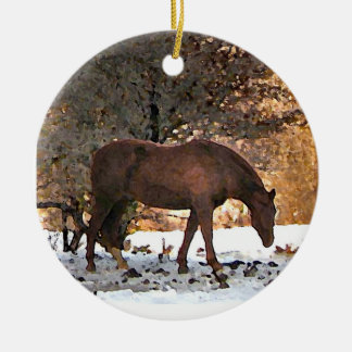 Ornamento del navidad del caballo ornamento de reyes magos