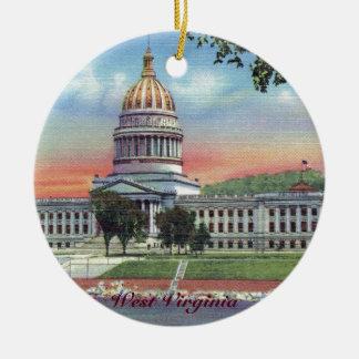 Ornamento del navidad del capitolio del estado de