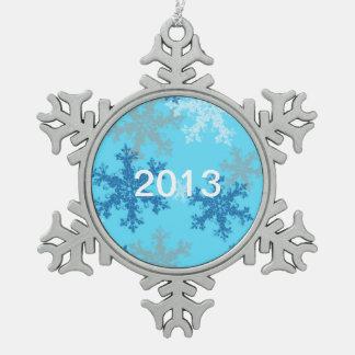 Ornamento del navidad del copo de nieve 2013 adornos