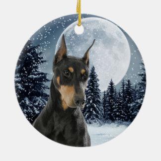 Ornamento del navidad del Doberman