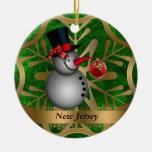 Ornamento del navidad del estado de New Jersey Adornos De Navidad