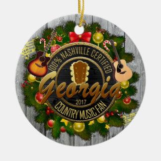 Ornamento del navidad del fan de música country de