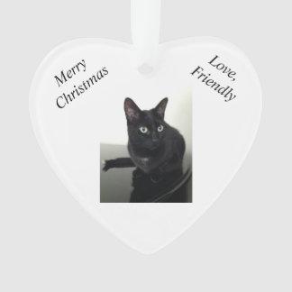 Ornamento del navidad del gato negro
