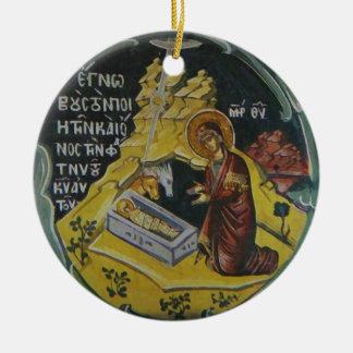 Ornamento del navidad del icono de la natividad