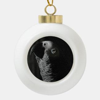 Ornamento del navidad del loro del gris africano adorno