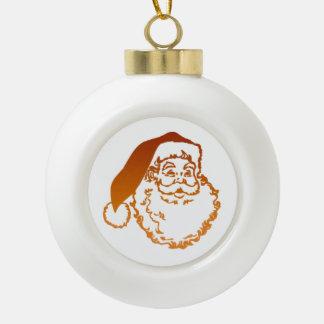 Ornamento del navidad del padre adorno de cerámica en forma de bola