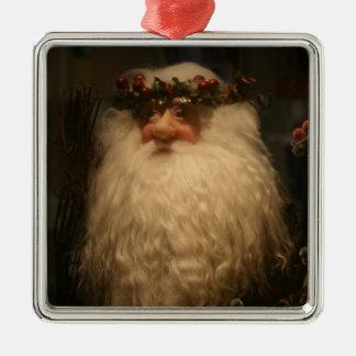 Ornamento del navidad del padre adorno navideño cuadrado de metal