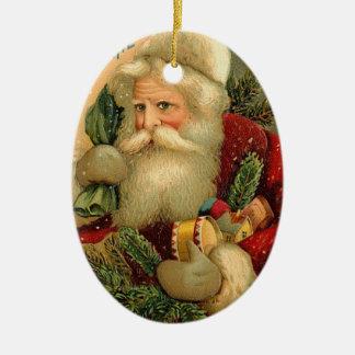 Ornamento del navidad del padre adorno navideño ovalado de cerámica