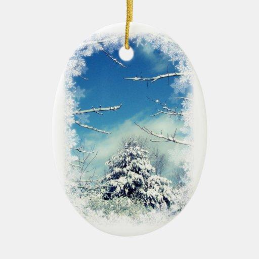 Ornamento del navidad del país de las maravillas d ornamentos de navidad