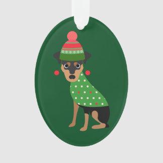 Ornamento del navidad del Pinscher miniatura