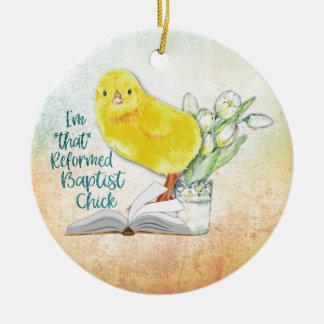 """Ornamento del navidad del """"polluelo baptista"""