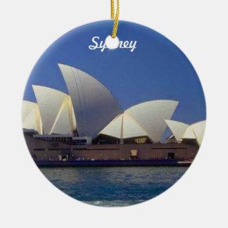 Ornamento del navidad del viaje de Sydney Adorno Navideño Redondo De Cerámica