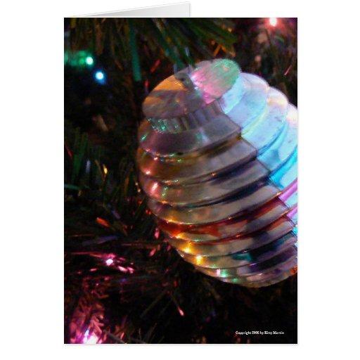 Ornamento del navidad del vintage felicitacion
