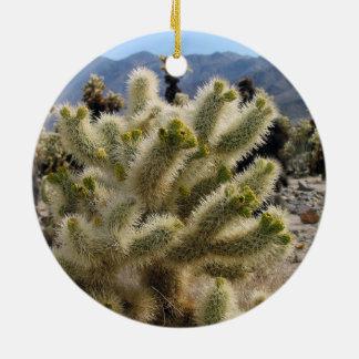 Ornamento del parque nacional de la yuca adorno navideño redondo de cerámica