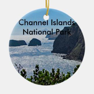 Ornamento del parque nacional de las Islas del Adorno Navideño Redondo De Cerámica
