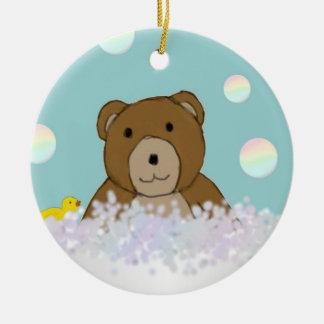 Ornamento del peluche del tiempo del baño ornaments para arbol de navidad