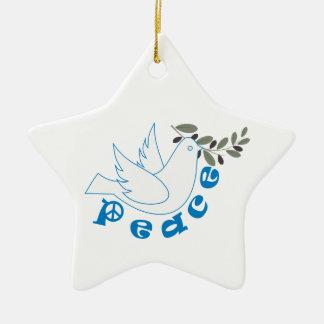 Ornamento del personalizado de la paz adorno de cerámica en forma de estrella