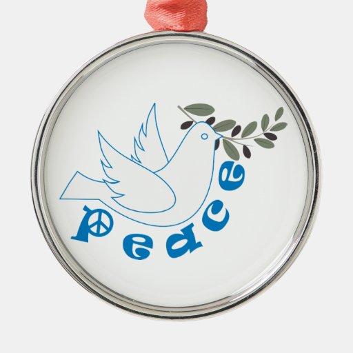 Ornamento del personalizado de la paz ornamentos para reyes magos