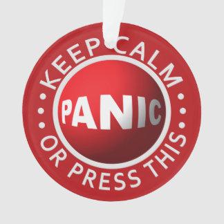 Ornamento del personalizado del botón de pánico