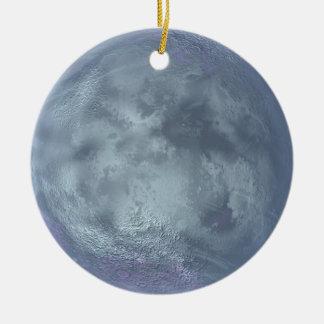 Ornamento del planeta adorno navideño redondo de cerámica