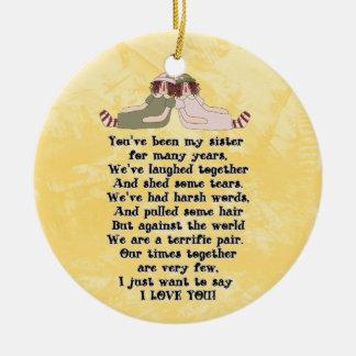 Ornamento del poema de la hermana