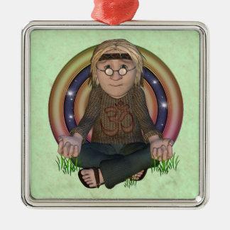 Ornamento del premio de la meditación del hippy ornamento de reyes magos