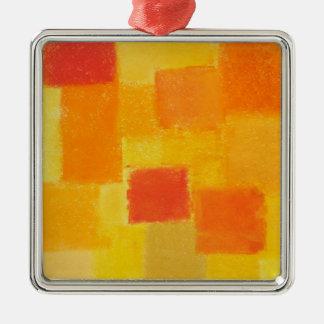 Ornamento del premio del verano de 4 estaciones adorno cuadrado plateado