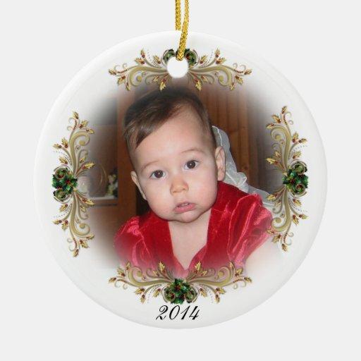 """""""Ornamento del primer navidad del bebé"""" religioso Ornamento Para Arbol De Navidad"""