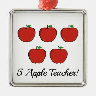Ornamento del profesor de 5 Apple