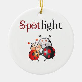 Ornamento del proyector de la mariquita adornos de navidad