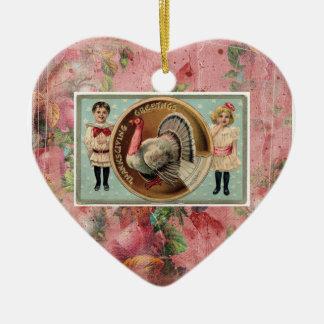 Ornamento del recuerdo de la acción de gracias ornamentos de navidad